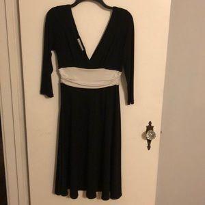 Maggy London Black & White Dress, Size 10
